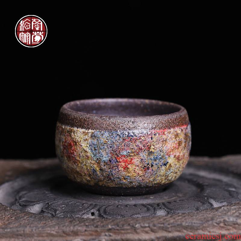 Rock ore iron tire master cup single CPU who the pottery famous museum in same old Rock kunfu tea cup