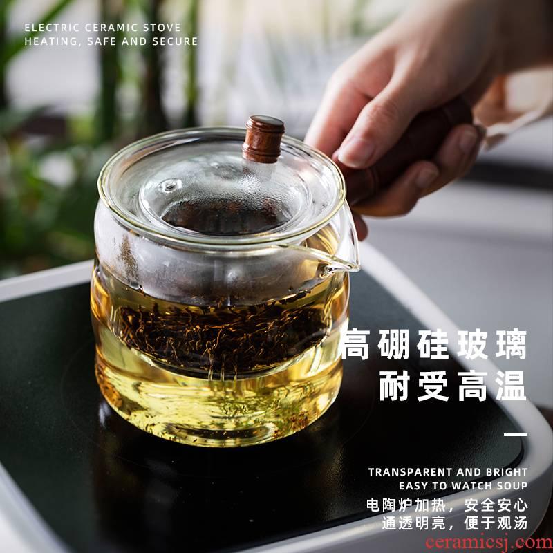 Yuet glass cooking pot kung fu tea set single pot of a single, high thickening TaoLu boiled tea machine appearance level