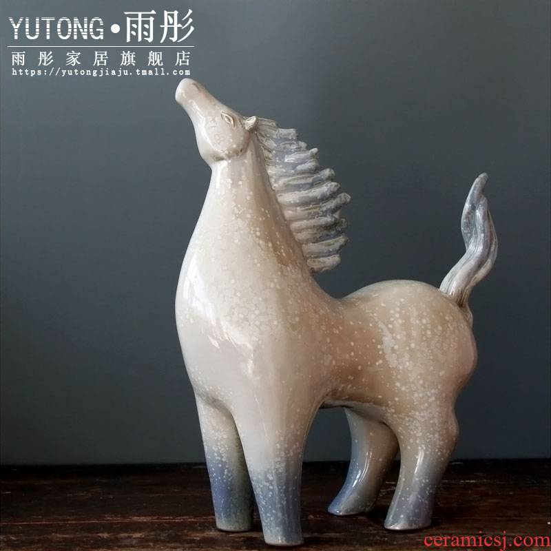 Jingdezhen ceramic its horse furnishing articles ornaments up porcelain creative living room home handicraft furnishing articles