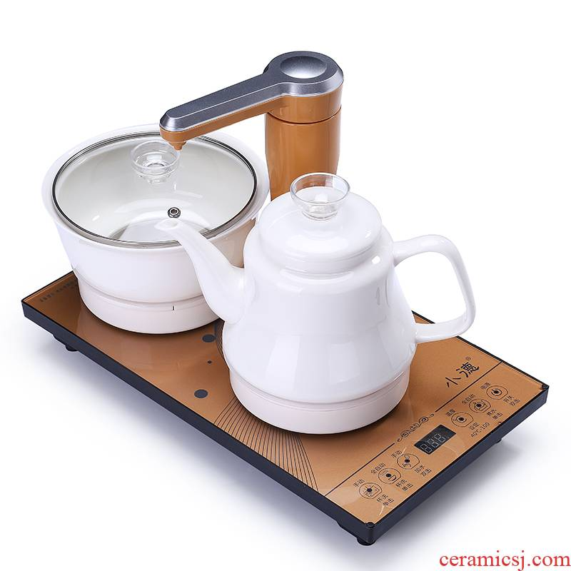 Shadow at electric kettle heat - resistant high - capacity intelligent automatic water dehua white porcelain home office tea kettle