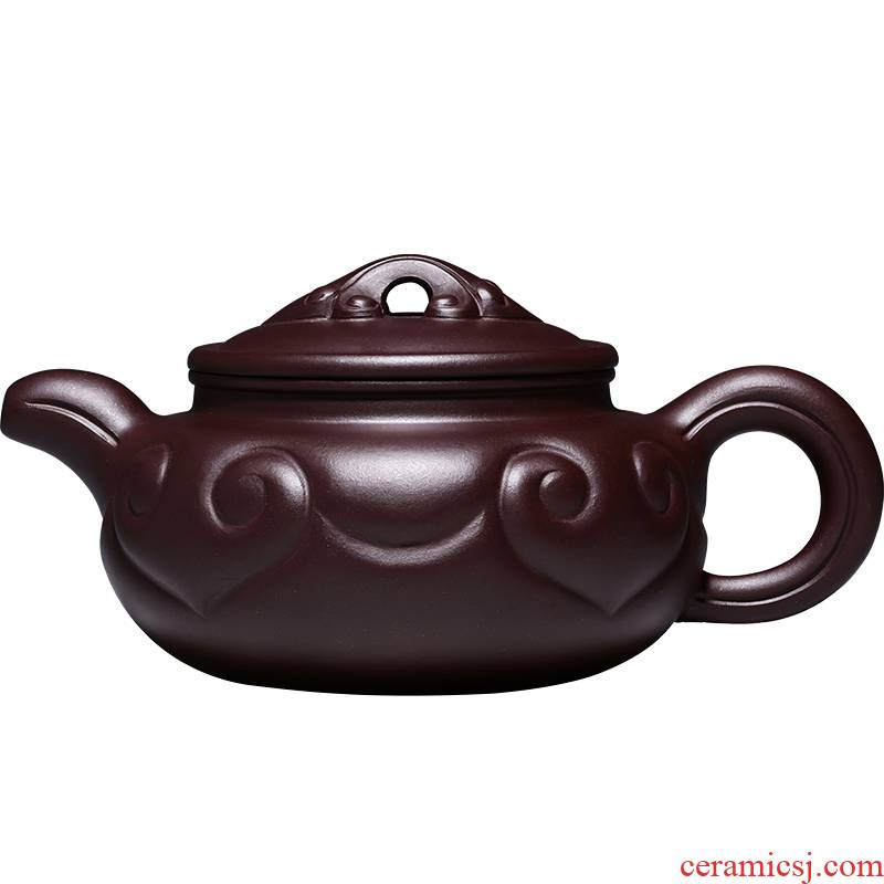 Shadow at yixing masters are it undressed ore purple mud all hand satisfied antique teapot tea set HNYY