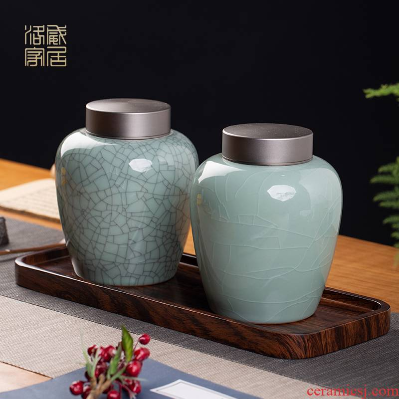 And your up caddy fixings tin lid seal pot slices can keep ceramic pot of Chinese style household pot receives storage tanks
