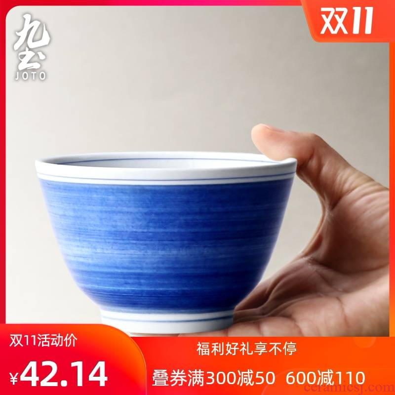 Nine Chinese soil checking ceramic rice bowl soup bowl rainbow such as bowl round bowl feeder porcelain tableware individual creativity