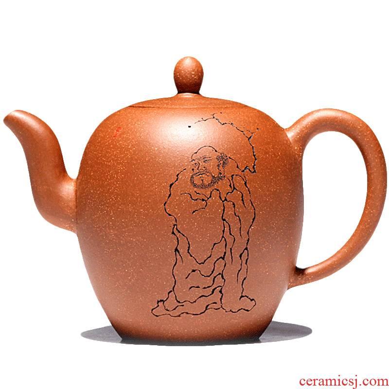 Yixing famous TaoJianChun all hand shadow enjoy 】 【 it slope mud beauty 380 CCCT shoulder the teapot