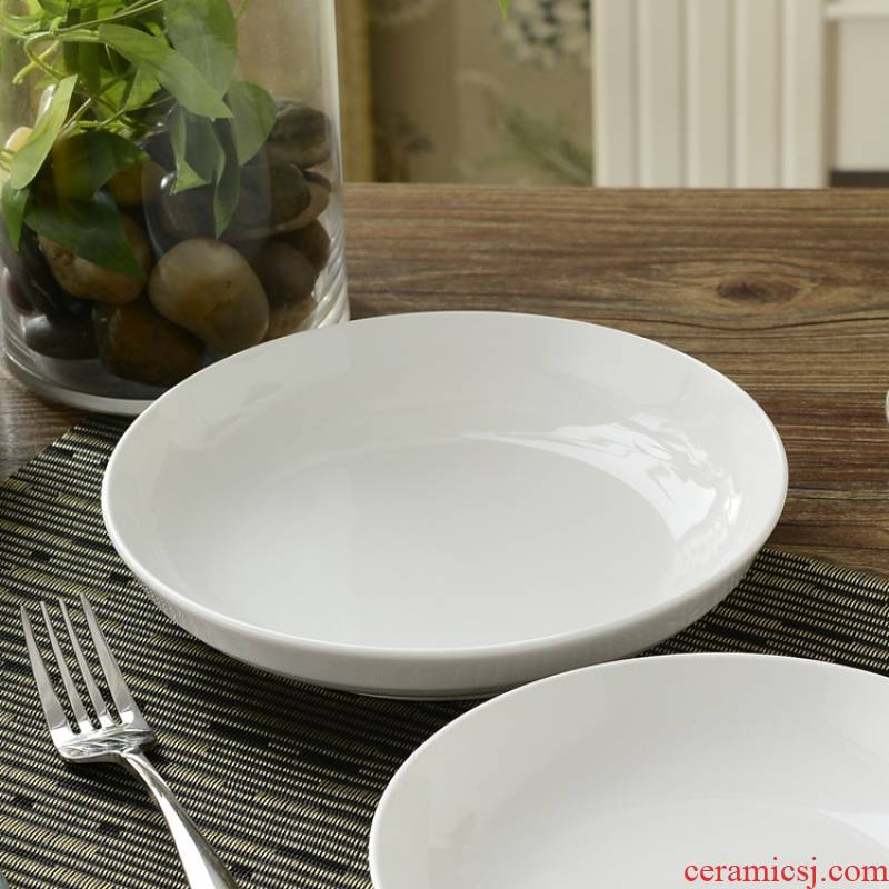 8910 inches of household ceramics tableware grail white pepper fish head pan hold food dish deep dish Fried good cuisine