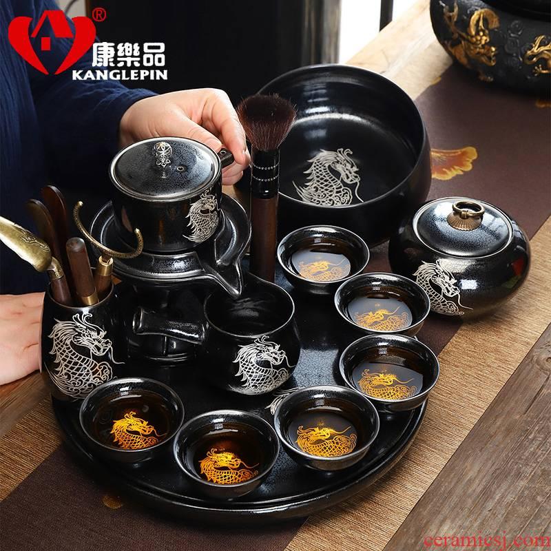 Fit recreational product teapot semi automatic make tea tea set lazy people rushed household ceramics kung fu tea set