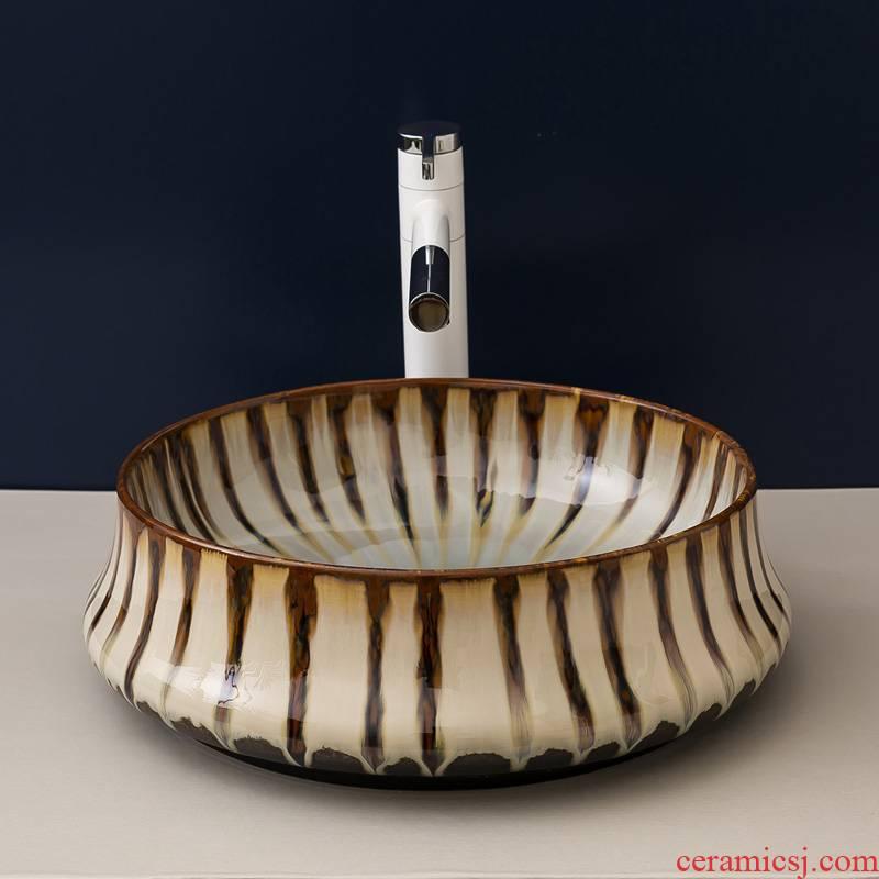 Stage basin balcony home for wash basin sink basin ceramic toilet lavatory circle of European art