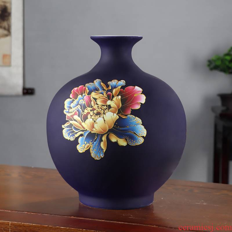 Blooming flowers inferior smooth jingdezhen ceramics vase home furnishing articles sitting room of Chinese style household flower arranging decorative arts and crafts