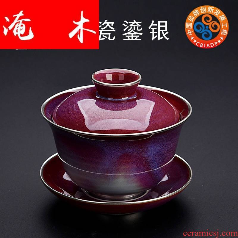 Submerged wood solid DE jun porcelain coppering. As silver tureen large bowl is archaize home kung fu tea tea cup