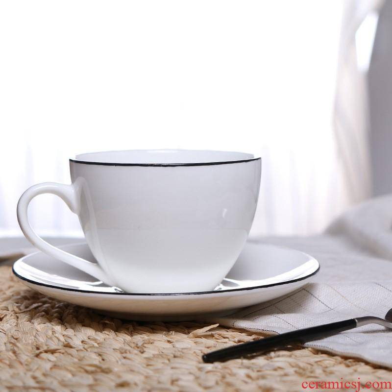 The kitchen European - style coffee cup sets mugs breakfast milk cup with a spoon, hand - made contracted customizable LO