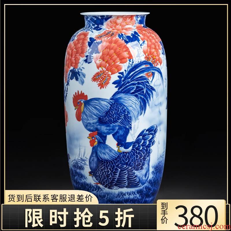 Jingdezhen ceramics hand - made porcelain CiGongJi figure family idea gourd bottle of large ground sitting room adornment