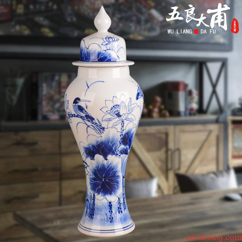 Jingdezhen antique bottles 5 jins of general loading blank bottle creative ceramic bottle of household ceramic seal pot