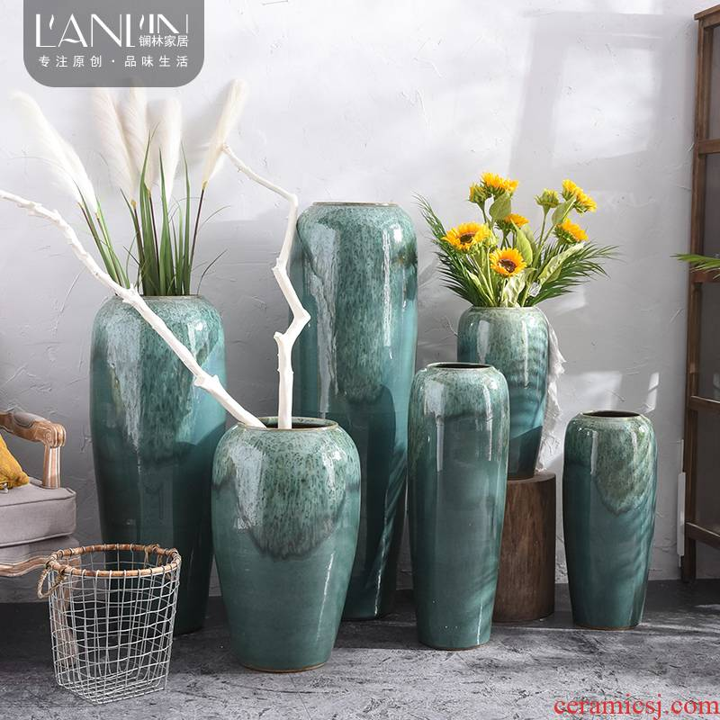 The modern ceramic large vases, artificial flowers, simulation flowers, furnishing articles sitting room living room decoration flower arranging dried flower bouquet
