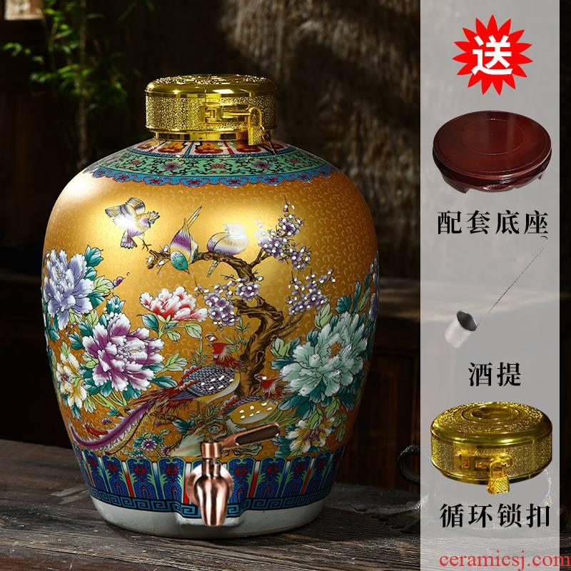 5 jins of jingdezhen ceramic jars bottle is empty wine bottles of archaize mercifully it seal cylinder 20 jins 10 jins of 50 kg
