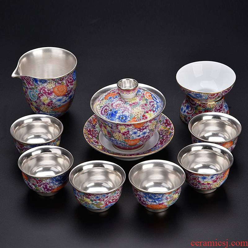 Ancient sheng up enamel see colour coppering. As silver tea sets ceramic silver tureen single cup tea teapot lid bowl