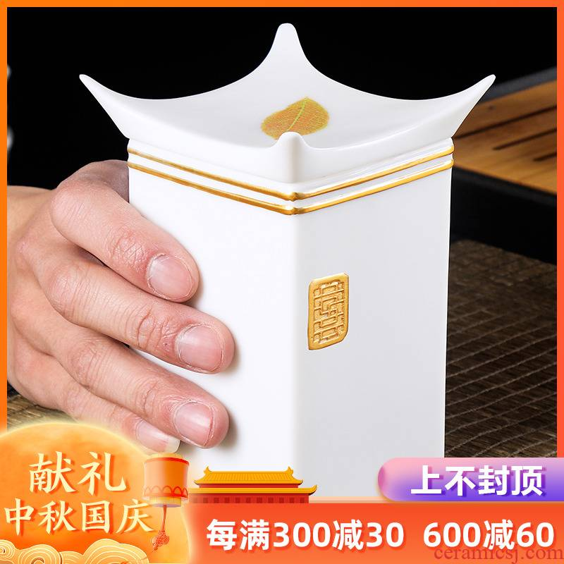 The Master artisan fairy guo - qin Chen paint konoha white porcelain ceramic household creative caddy fixings boutique high - end gift boxes