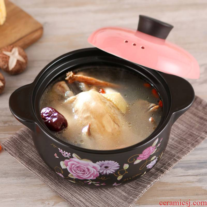 Earthenware pot soup special household gas induction cooker simmering saucepan small ceramic casserole high temperature resistant cooker ltd.