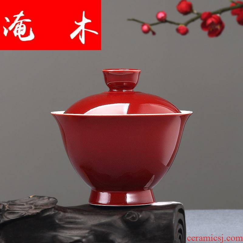 Submerged wood your up only three tureen household ceramics large bowl cups kung fu tea set hand by hand