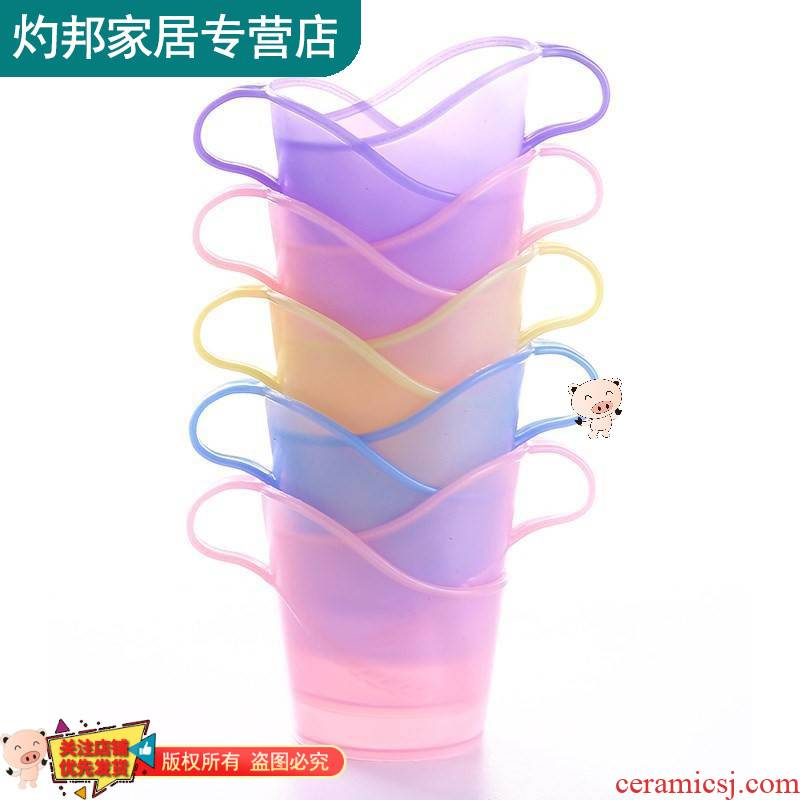 One - time sex through time base paper cover cup cup stand holder frame cup set paper cups, paper cups