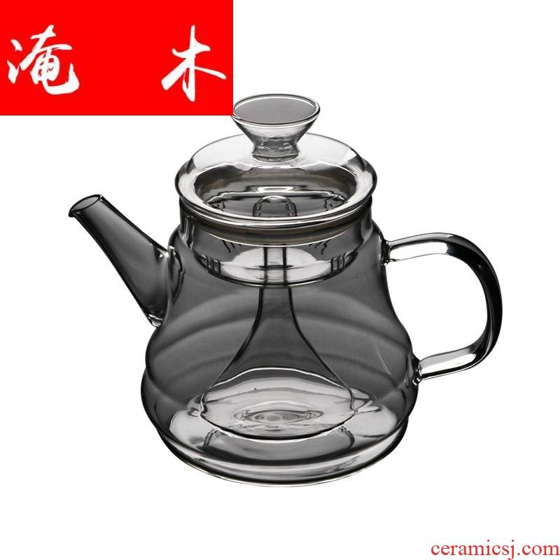 Flooded wood heat glass teapot tea steam kettle boil tea steamer electric TaoLu scented tea, black tea teapot