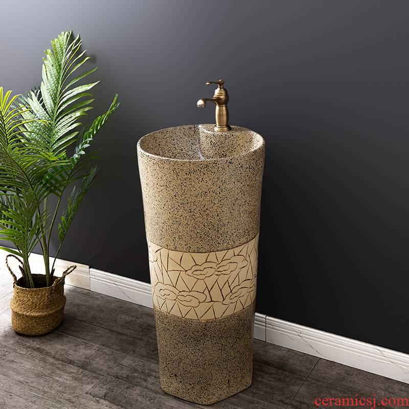 Ceramic basin floor balcony is suing the lavatory retro column pillar household toilet lavabo 12