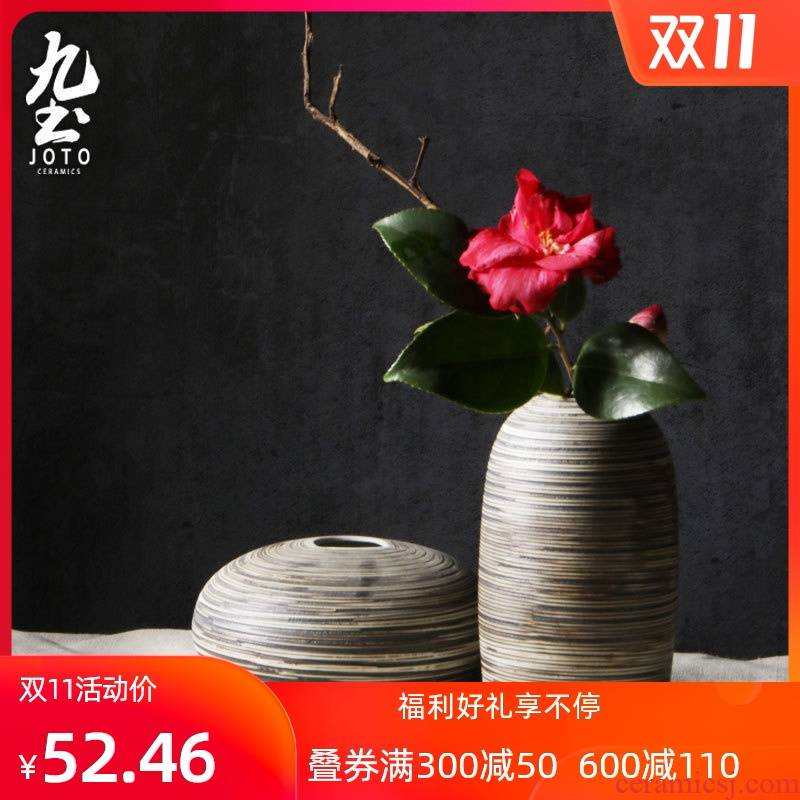 About Nine insert soil I and contracted design ceramic vase Nordic home decorations furnishing articles sitting room dining - room table decoration