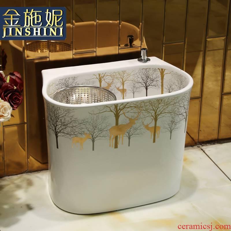 As Reindeer mop pool bathroom floor balcony marble mop pool is suing is suing ceramic mop basin courtyard