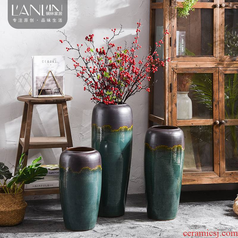 Ceramic vase restoring ancient ways furnishing articles TV ark, between example simulation flower flower arranging dried flower bouquet sitting room adornment ornament
