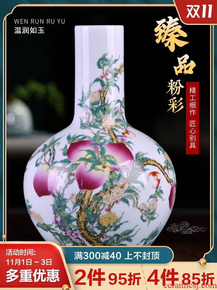 Jingdezhen ceramics, vases, flower arranging famille rose porcelain furnishing articles sitting room of Chinese style household table decorations TV ark