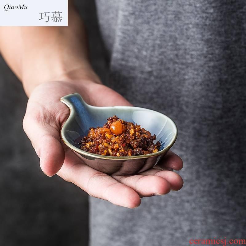 Qiam qiao mu fashion creative ceramic tableware suit Japanese Korean dish plate express little fish dish dish of sauce