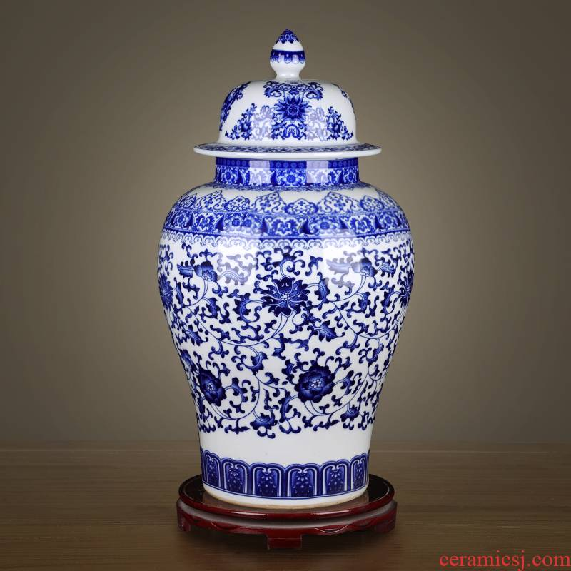 Jingdezhen ceramics archaize general storage tank jar airtight canister to candy jar household act the role ofing is tasted furnishing articles in the living room