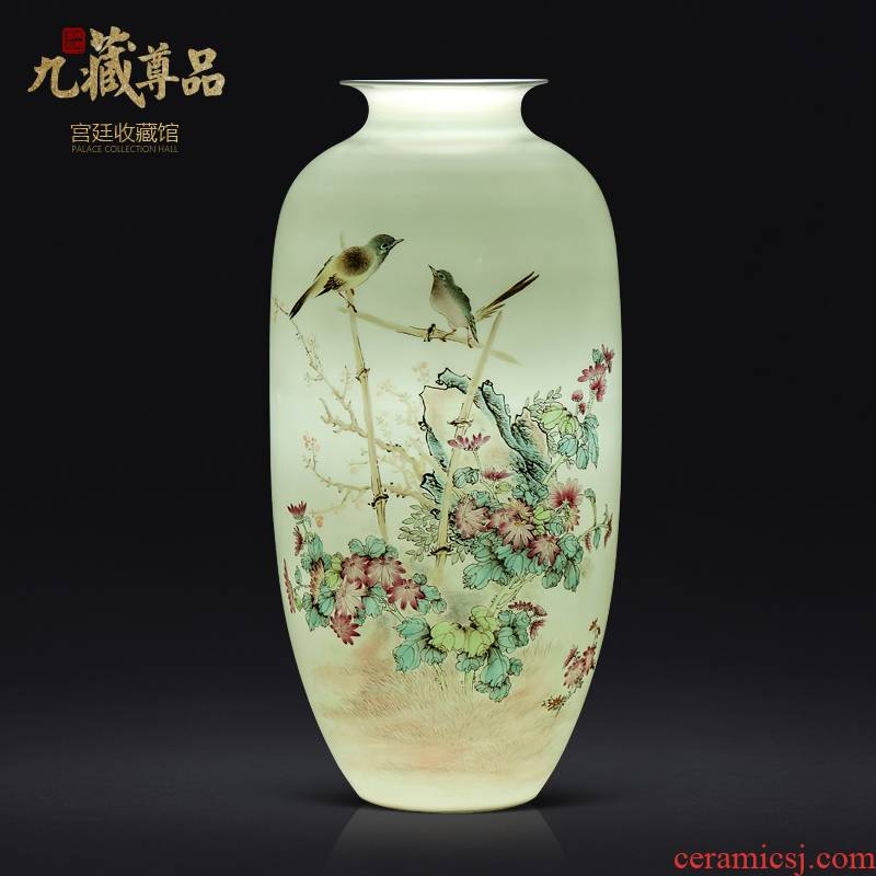The Master of jingdezhen ceramics hand - made to live and work in peace and contentment bottles of Chinese style living room TV ark, flower arranging porch is decorated furnishing articles