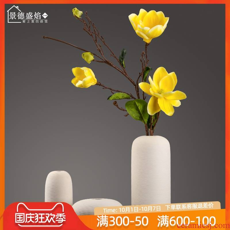 New Chinese style creative ceramic vases, dried flowers, flower arrangement of TV ark, household adornment handicraft sitting room porch porch