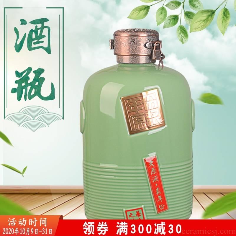 Home 5 jins of archaize of jingdezhen ceramic wine jar 10 jins with good gift box five big on virgin pulp liquor bottles