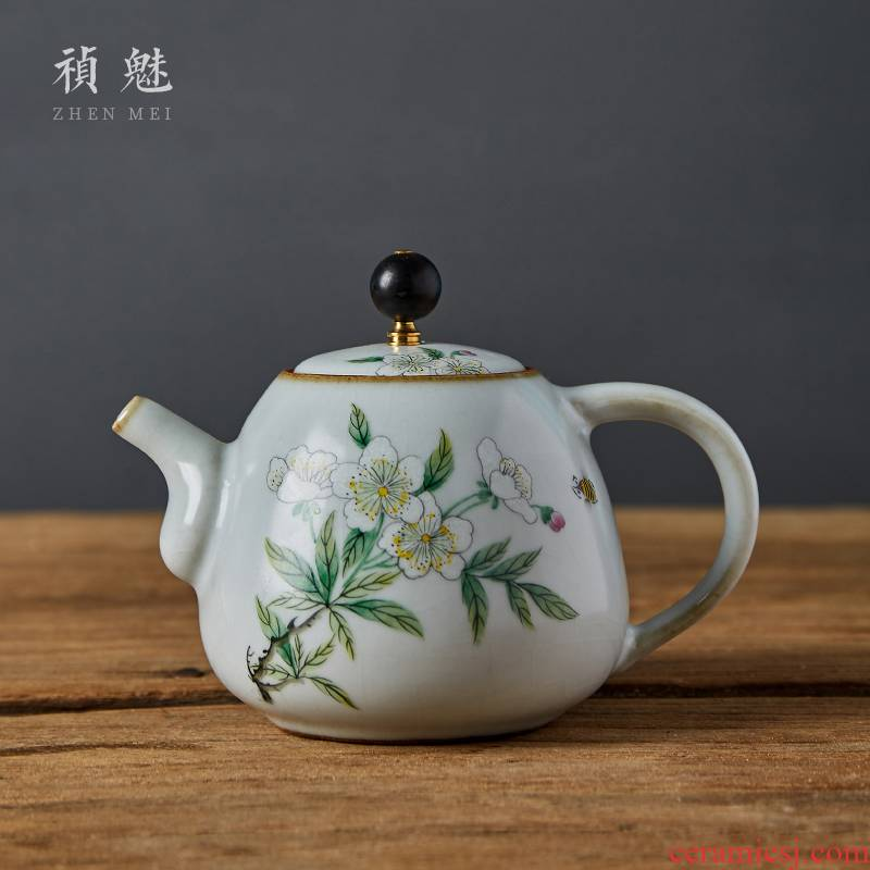 Shot incarnate the jingdezhen ceramic your up hand - made teapot kung fu tea set household filter teapot slicing can be raised