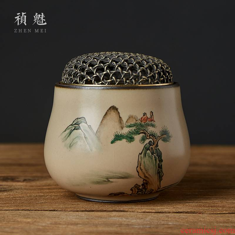 Shot incarnate your up on hand - made scenery censer jingdezhen ceramic kung fu tea set with parts cicada fancy there are scented