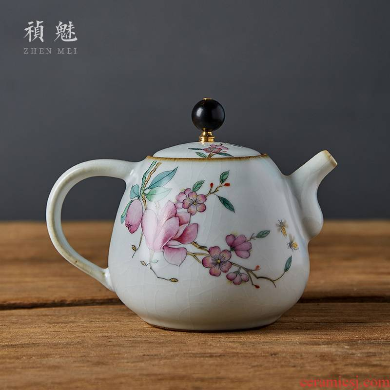 Shot incarnate your up on hand - made yulan jingdezhen ceramic teapot kung fu tea set household filter teapot
