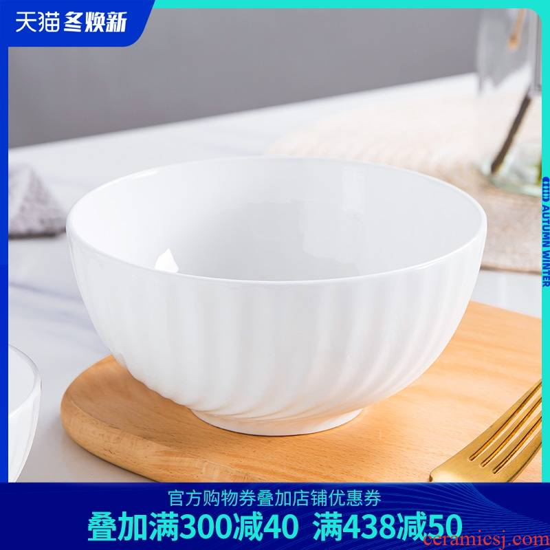 White ipads China bowl of soup bowl of creative move household single job single Chinese ceramic Nordic microwave oven is available