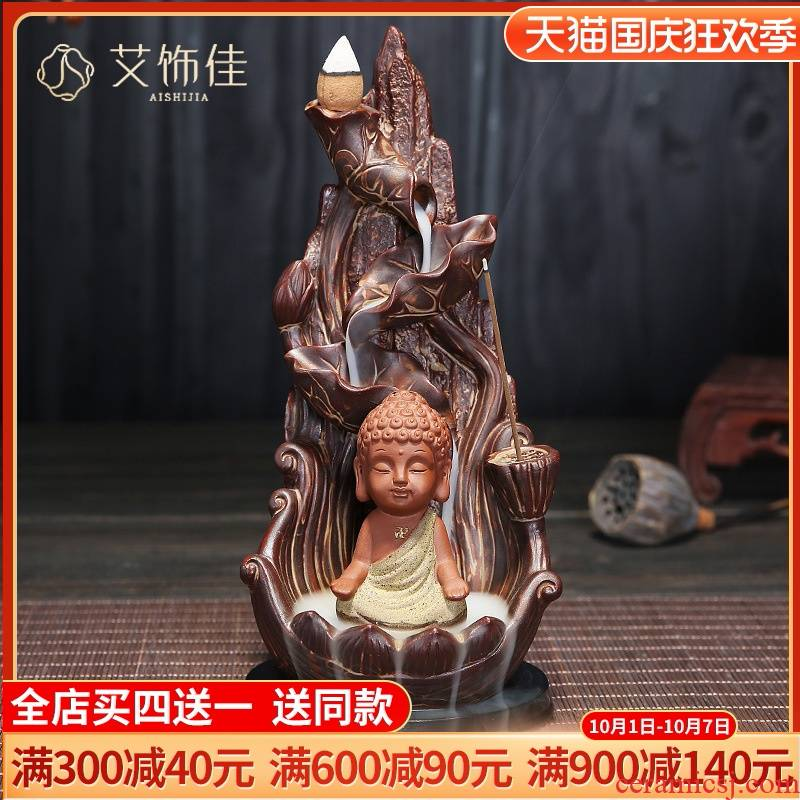 Backflow censer creative archaize ta ceramic aroma stove home sitting room interior furnishing articles there are Buddha with supplies