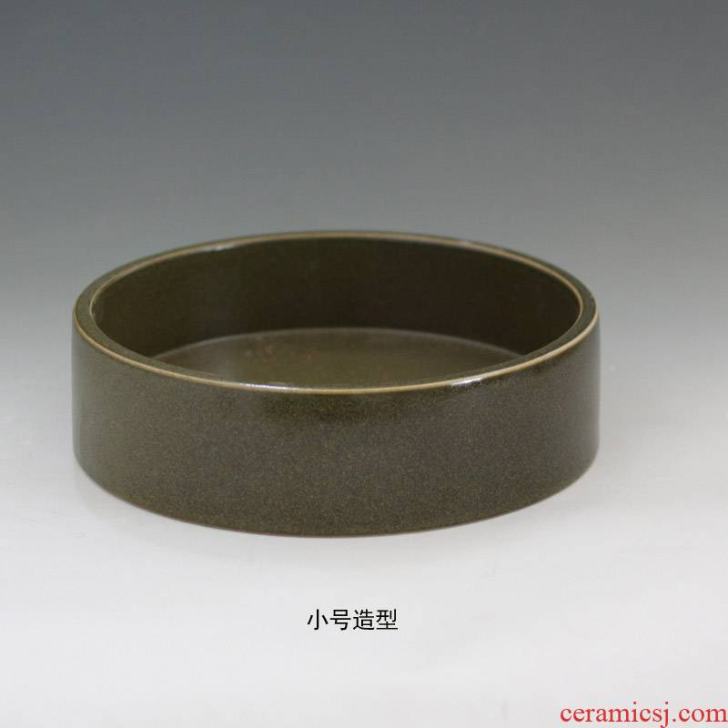 Straight at the end of the ceramic porcelain tea water shallow 40 cm diameter at the end of the classical tea porcelain basin