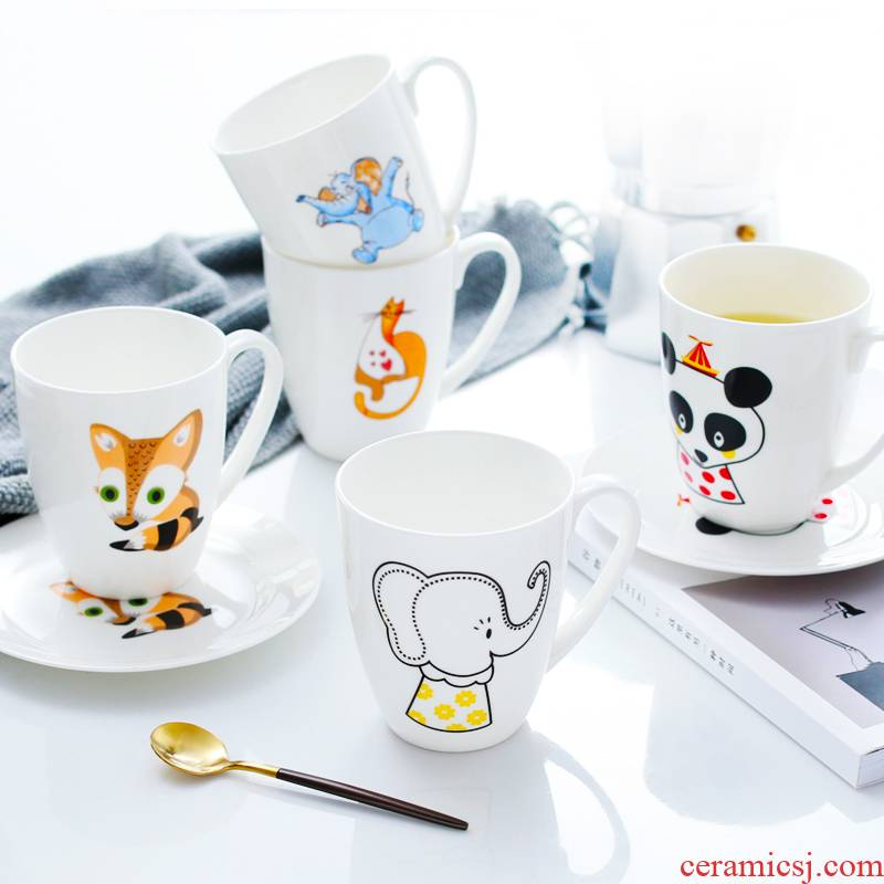 Ipads China mugs creative glass ceramic cup with saucer express picking cups of milk cereal breakfast coffee cup