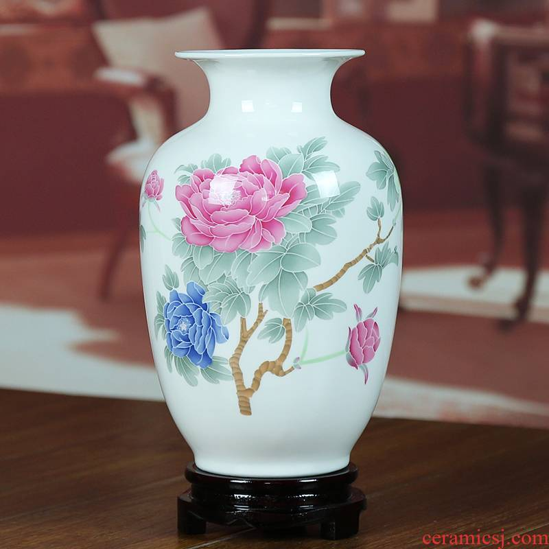 Jingdezhen ceramics in sitting room adornment ipads porcelain vase I household glair contracted style furnishing articles