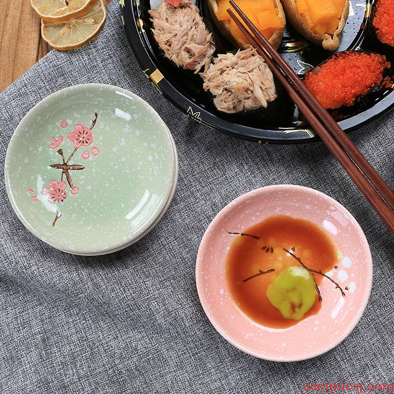4 inches ceramics serving Japanese household soy sauce vinegar dish dish of pickles disc ipads porcelain dish flavor dish of tableware