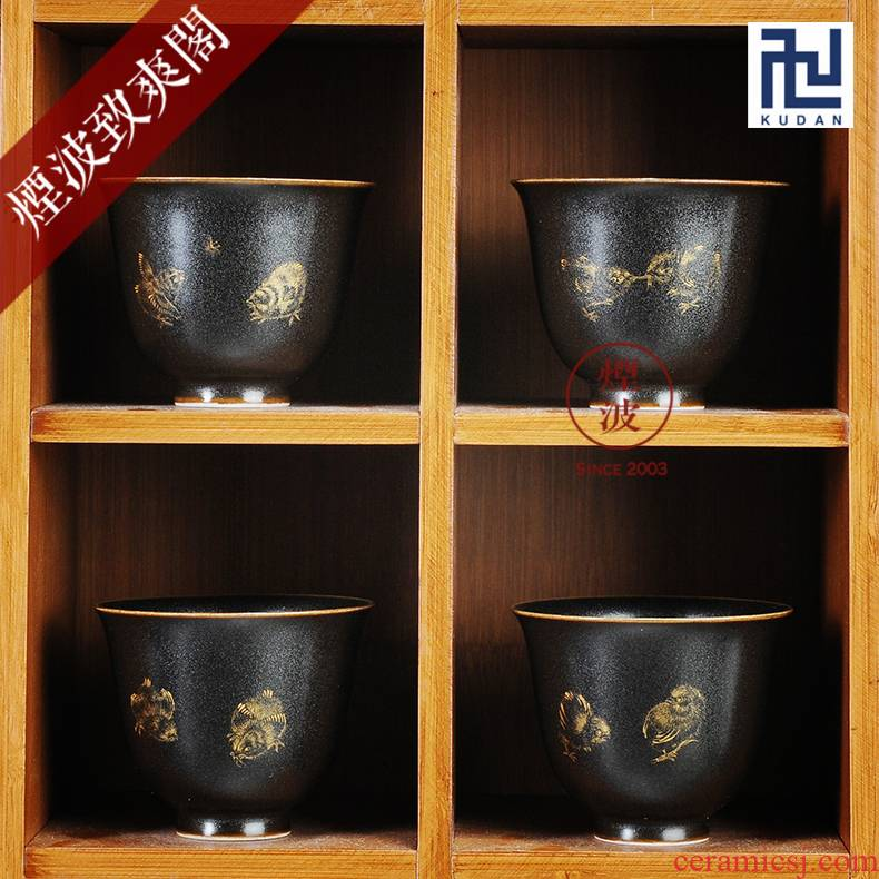 Those jingdezhen burn fuels says silver star glaze wonderful hand burnt work four seasons peace cup bell set of cups