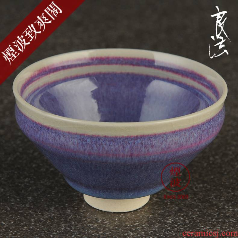 Made those Japanese law cinnabar built pottery and spring tea light cup 10
