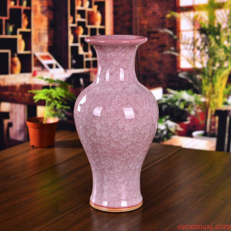 Archaize of jingdezhen ceramics up porcelain cracked ice vase I household crafts sitting room classical furnishing articles