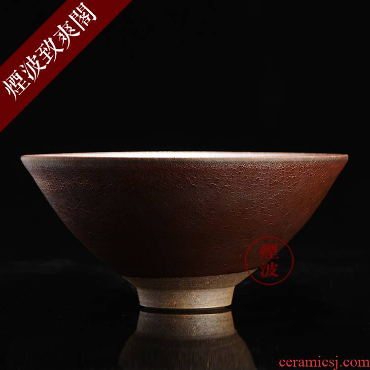 Japanese pottery master expedition just rainbow cloud droplets temmoku built a lamp that tea light cup sample tea cup