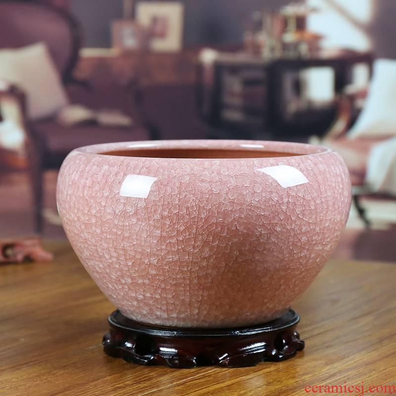 Jingdezhen ceramics decoration cylinder storage tank sundry as cans sitting room decoration handicraft study home furnishing articles flowerpot
