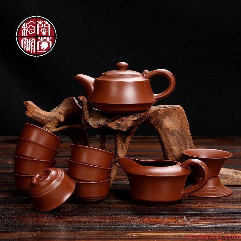 Violet arenaceous kung fu tea set kit home tea full restore ancient ways are it cup set a complete set of the custom office