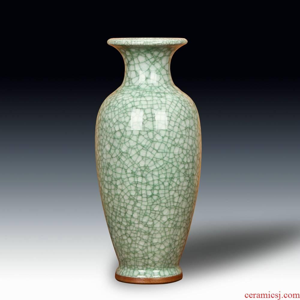 Jun porcelain of jingdezhen ceramics, crack open the slice antique vase landed the big vase decoration home furnishing articles